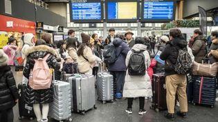 Le week-end des 28 et 29 décembre sera également marqué par la grève. (HUGO PASSARELLO LUNA / HANS LUCAS / AFP)
