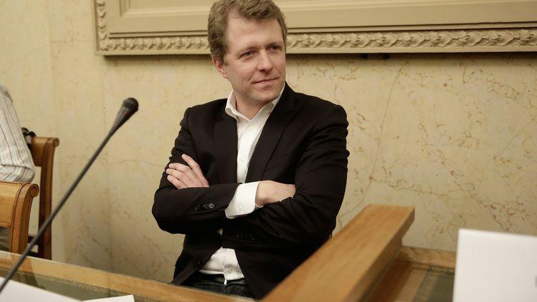 L'avocatArnaud Gossement, lors d'un colloqued'Europe Écologie Les Verts, le 4 avril 2015, à Paris. (VINCENT ISORE / MAXPPP)
