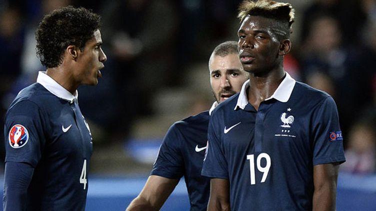 La déception des joueurs français, Raphaël Varane, Karim Benzema et Paul Pogba