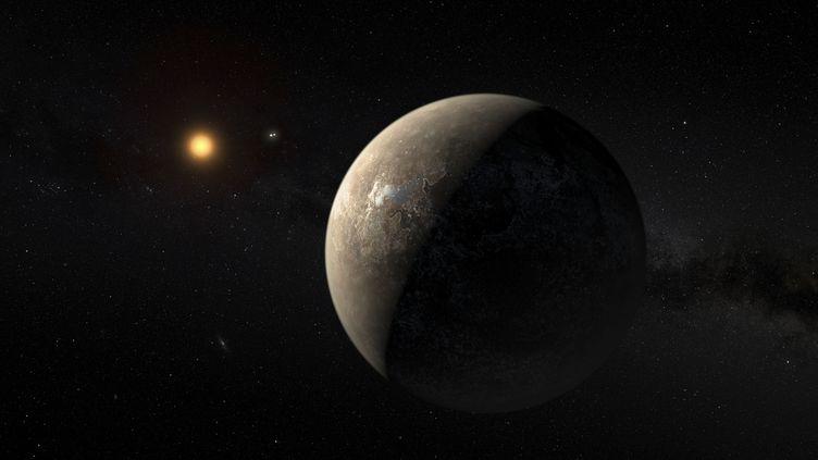 Reproduction artistique de la planète Proxima b, la plus proche de notre système solaire, publiée par l'Observatoire européen austral le 24 août 2016. (HANDOUT . / REUTERS)