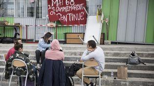 Le blocage de l'université de Nanterre (Hauts-de-Seine) est toujours en cours. (MAXPPP)