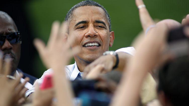 Le président des Etats-Unis Barak Obama en meeting le 2 septembre 2012 à Boulder dans le Colorado. (MARC PISCOTTY / GETTY IMAGES NORTH AMERICA / AFP)