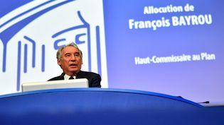 François Bayrou s'exprime devant leConseil économique, social et environnemental à Paris, le 22 septembre 2020. (MARTIN BUREAU / AFP)