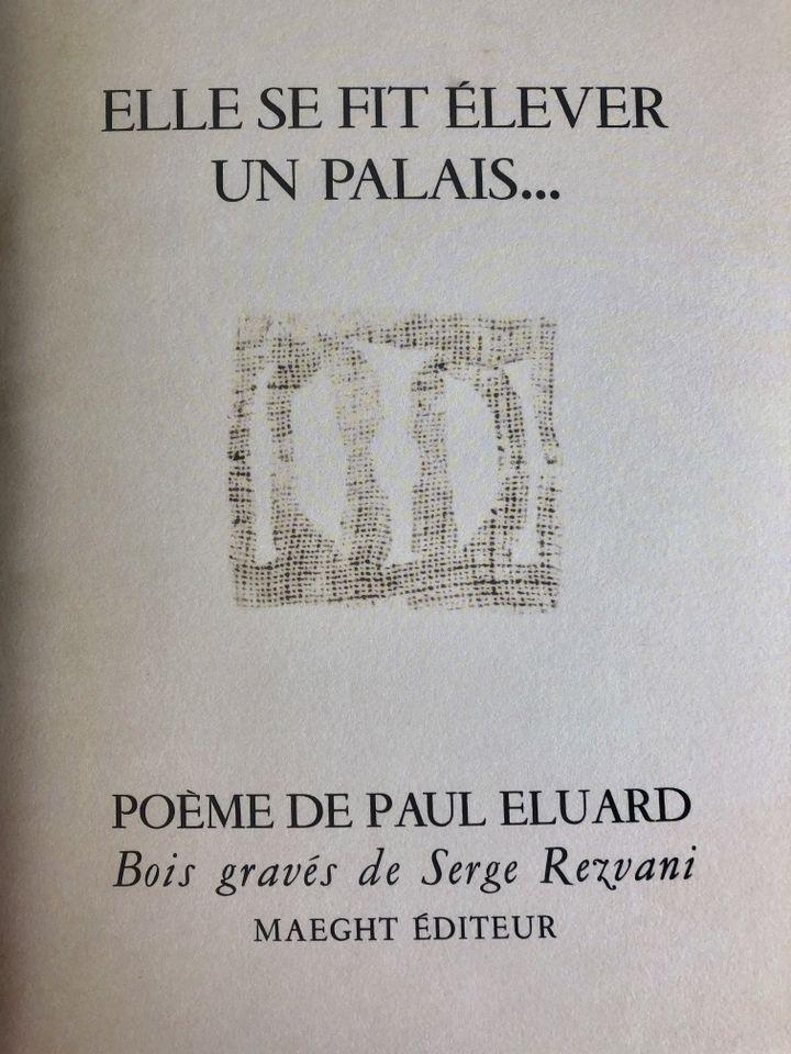 """Réédition du poème de Paul Eluard """"Elle se fit élever un palais"""" pour la 21e fête de la librairie indépendante. (Gallimard)"""