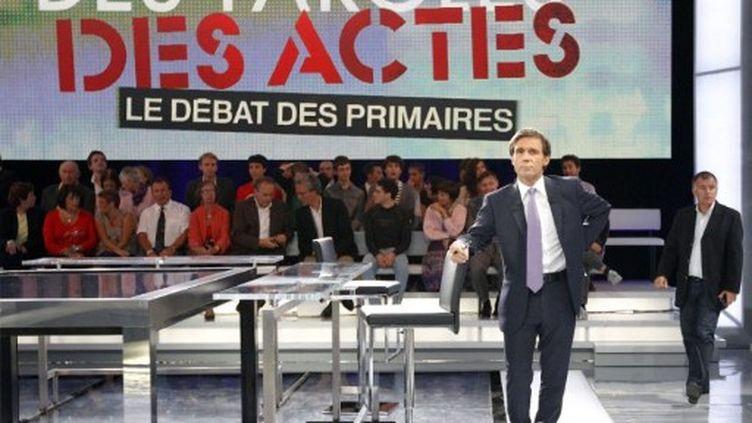 """France 2 a terminé en tête des audiences jeudi soir, un succès partagé avec le nouveau site """"Présidentielle 2012"""". (AFP - Patrick Kovarik)"""