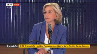 Valérie Pécresse sur franceinfo le jeudi 24 juin. (FRANCEINFO / RADIOFRANCE)