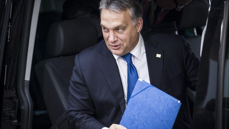 Le premier ministre hongroisViktor Orban, le 23 octobre 2014 à Bruxelles. (WIKTOR DABKOWSKI / AFP)