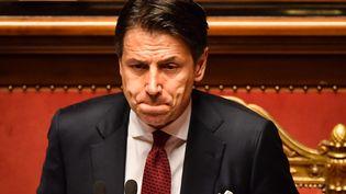 Le président du Conseil des ministres italien, Giuseppe Conte, le 20 août 2019 à Rome (Italie). (ANDREAS SOLARO / AFP)