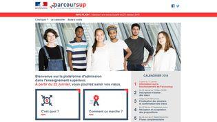 La nouvelle plate-forme d'inscription pour lesétudes post-bac, Parcoursup, a été mise en ligne, lundi 15 janvier. (PARCOURSUP / FRANCEINFO)