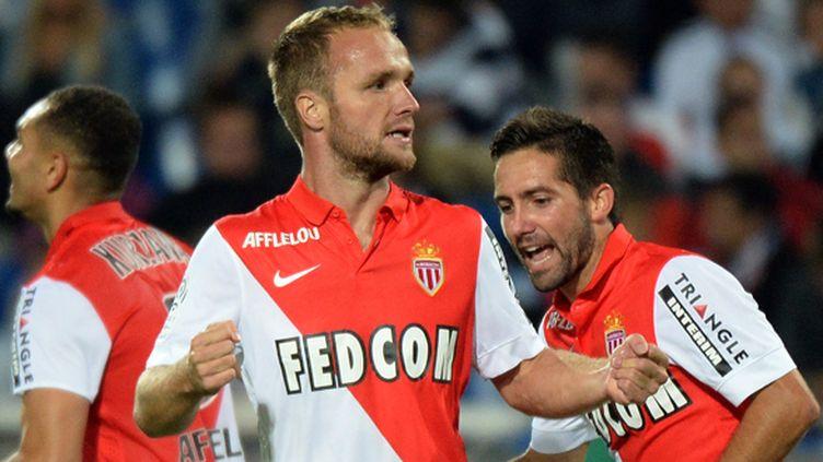 Valere Germain espère bien à nouveau marquer contre Reims.  (BORIS HORVAT / AFP)