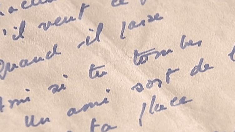 Des mots griffonnés sur un coin de table en 1943 devenus un hymne pour tous les Résistants.  (France 2)