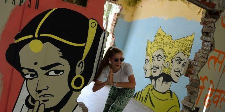 L'ashram abandonné de Rishikesh accueille désormais des touristes. SAJJAD HUSSAIN / AFP  (SAJJAD HUSSAIN / AFP)