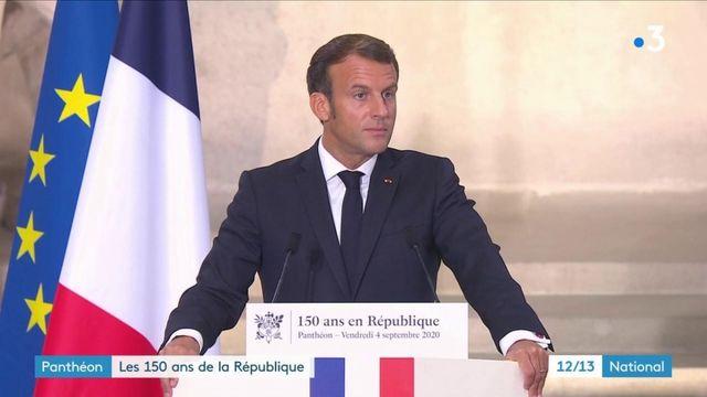Emmanuel Macron célèbre les 150 ans de la République