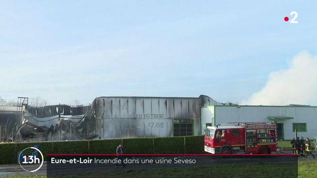 Eure-et-Loir : une usine Seveso partiellement détruite par un incendie