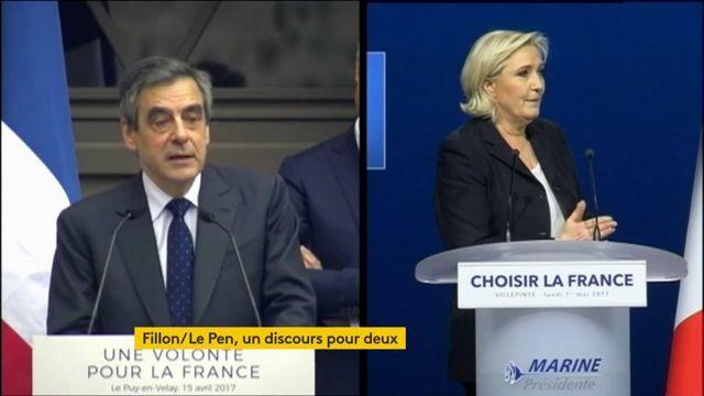 Sujet Marine Le Pen vs. François Fillon