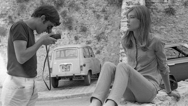 Roger Kasparian et Françoise Hardy dans les années soixante, sur la côte d'Azur.  (Archives Kasparian)