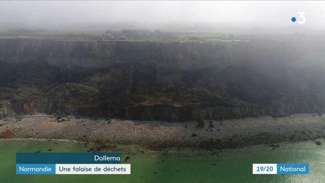 Normandie : une falaise de déchets