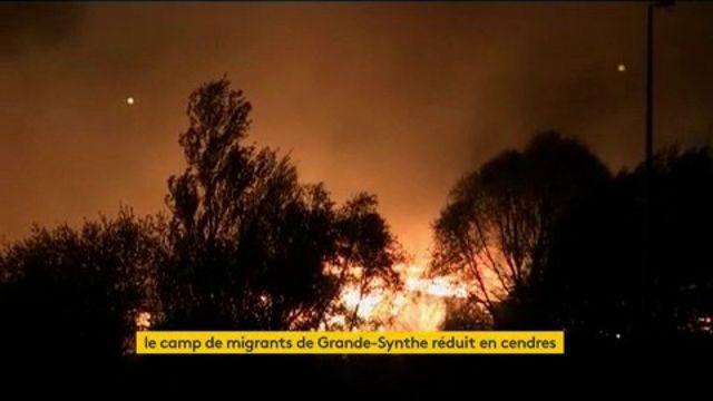 Le camp de migrants de Grande-Synthe ravagé par un incendie