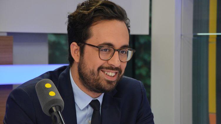 Mounir Mahjoubi,secrétaire d'État au numérique. (RADIO FRANCE / JEAN-CHRISTOPHE BOURDILLAT)