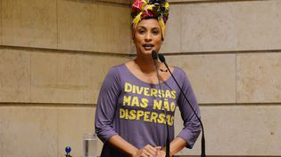 Marielle Franco, conseillère municipale de Rio, le 28 novembre 2017 à Rio de Janeiro (Brésil). (MARIO VASCONCELLOS / RIO DE JANEIRO MUNICIPAL CHAMBER)