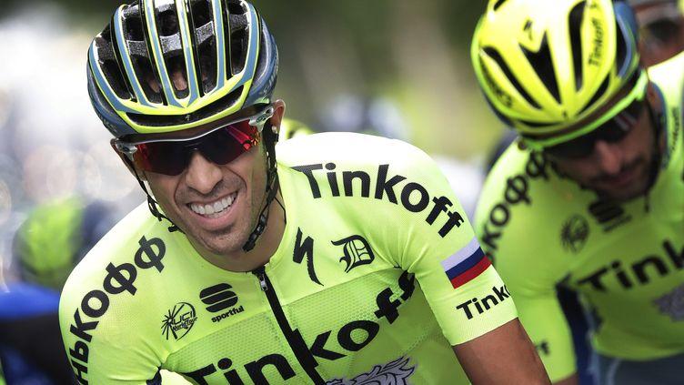 Contador, sous les couleurs de Tinkoff. (KENZO TRIBOUILLARD / AFP)