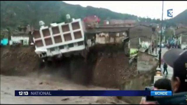 Pérou : 11 000 personnes sinistrées à cause de pluies diluviennes