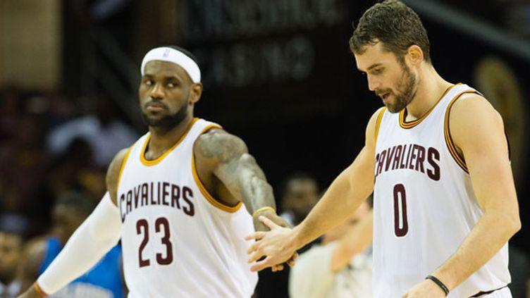 LeBron James et Kevin Love, les deux stars de Cleveland