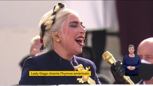 VIDEO. Investiture de Joe Biden : regardez et écoutez l'hymne américain chanté par l'artiste Lady Gaga