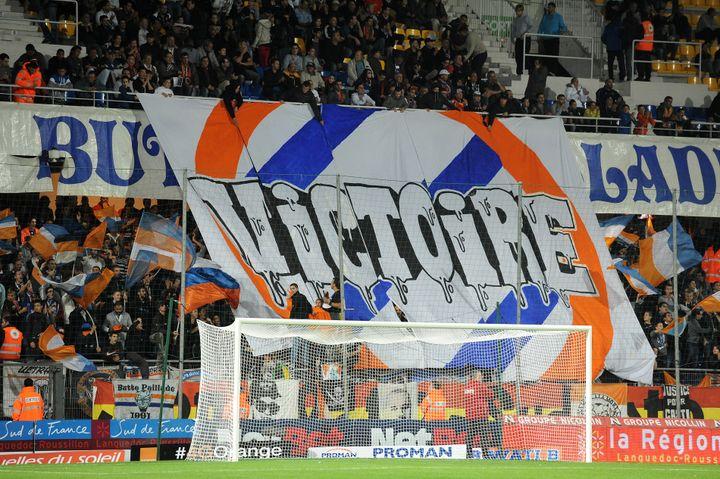 Les supporters de Montpellier espéraient une victoire contre Lille, le 19 octobre 2013. C'est raté (défaite 0-1). (PASCAL GUYOT / AFP)
