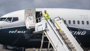 Un 737 MAX àSeattle (Etats-Unis), le 3 avril 2021. (MARIAN LOCKHART / BOEING / AFP)