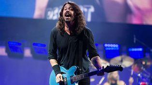Dave Grohl des Foo Fighters au festival de Glastonbury le 24 juin 2017.  (Richard Isaac/Shutterst/SIPA)