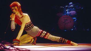 David Bowie en concert au Hammersmith Odeon à Londres en 1973  (Ilpo Musto / Rex Features / Rex / SIPA)