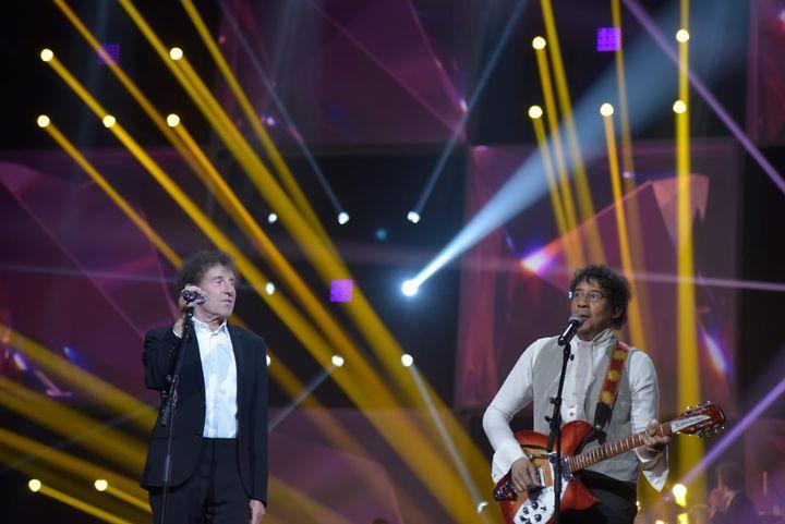 (Le duo Souchon Voulzy en ouverture des 30èmes Victoires © Edmond Sadaka/RFI)