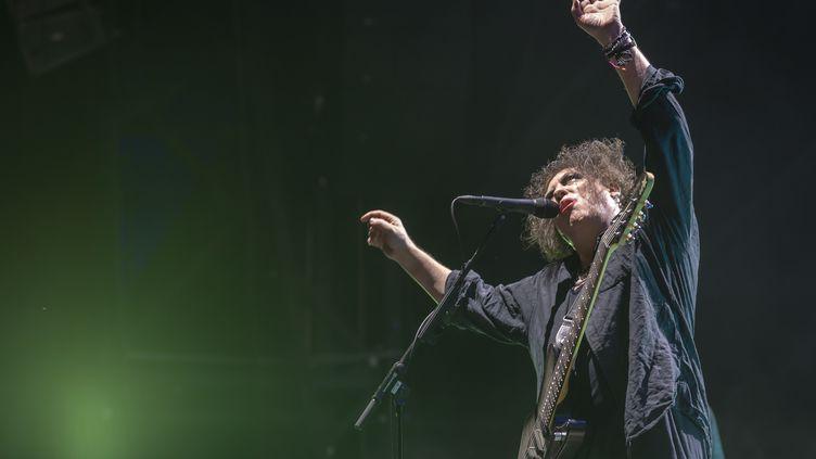 Robert Smith et son groupe The Cure, ici au dernier Paleo Festival en Suisse le mois dernier, seront en exclusivité française à Rock en Seine. (MARTIAL TREZZINI / KEYSTONE)