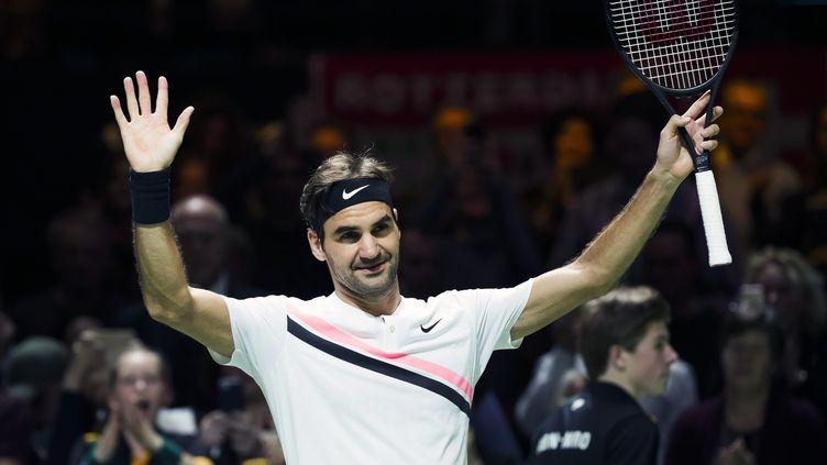 La joie de Roger Federer après sa victoire (KOEN SUYK / ANP)