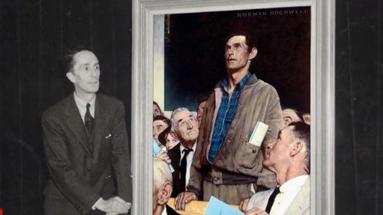 Le mémorial de Caen (Calvados) exposera pour la première fois en France les quatre tableaux de Norman Rockwell inspirés par le discours d'entrée en guerre de Franklin Roosevelt en 1941. (FRANCE 2)