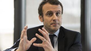 Emmanuel Macron lors de son QG de campagne à Paris, le 7 mars 2017. (ERIC FEFERBERG / AFP)