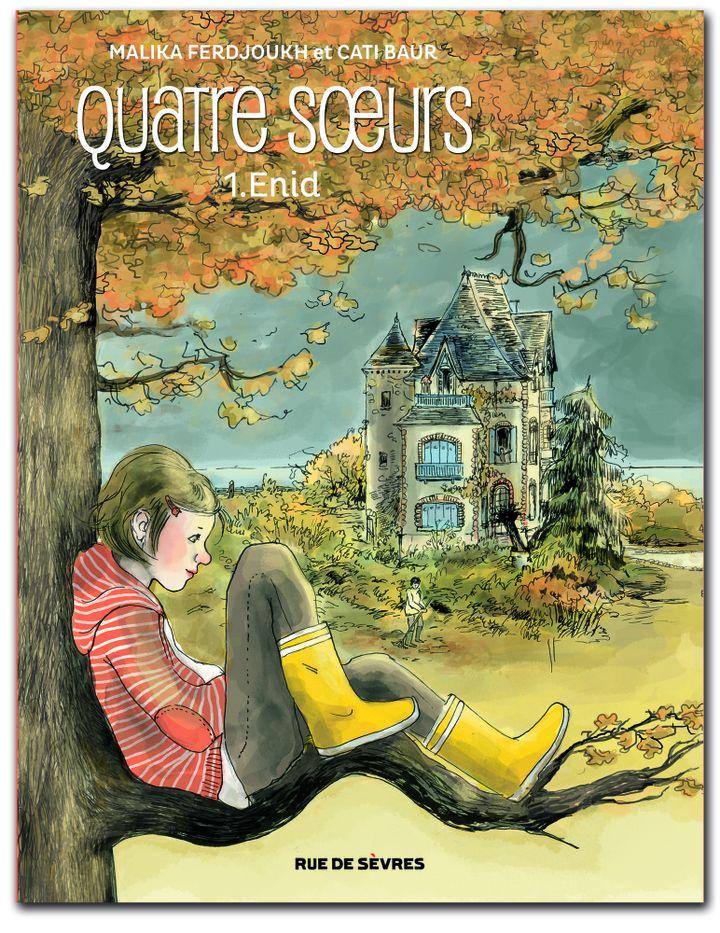 "Couverture ""Quatre soeurs -Enid"" Malika Ferdjoukh  (Cati Baur / Rue de Sèvres)"