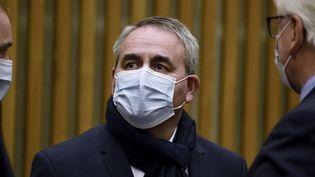 Le président des Hauts-de-France, Xavier Bertrand, le 19 octobre 2020 à Paris. (ERIC PIERMONT / AFP)