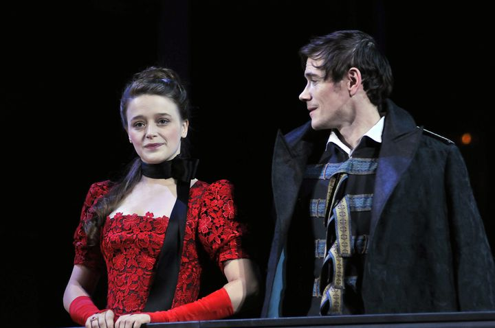 Adeline d'Hermy (Silvia) et Loïc Corbery (Le prince)  (Raymond Delalande / SIPA)