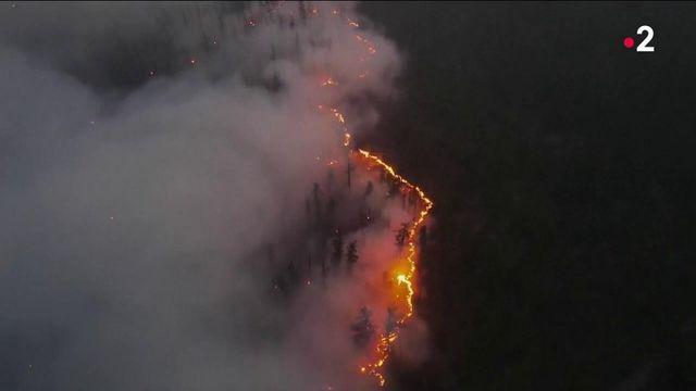 Incendies : ravagée par d'impressionnants feux, la Sibérie est plongée dans d'épais nuage de fumée
