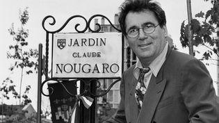 Claude Nougaro en 1992 lors de l'inauguration du square des Minimes à Toulouse  (PHOTOPQR/LA DEPECHE DU MIDI)