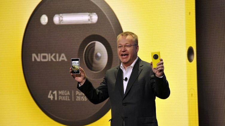 Le PDG de Nokia, Stephen Elop, le 11 juillet 2013 à New York (Etats-Unis). (TIMOTHY CLARY / AFP)