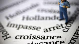 La croissance française rebondit très légèrement au troisième trimestre 2014, selon des chiffres provisoires de l'Insee publiés le 14 novembre 2014. (JOEL SAGET / AFP)