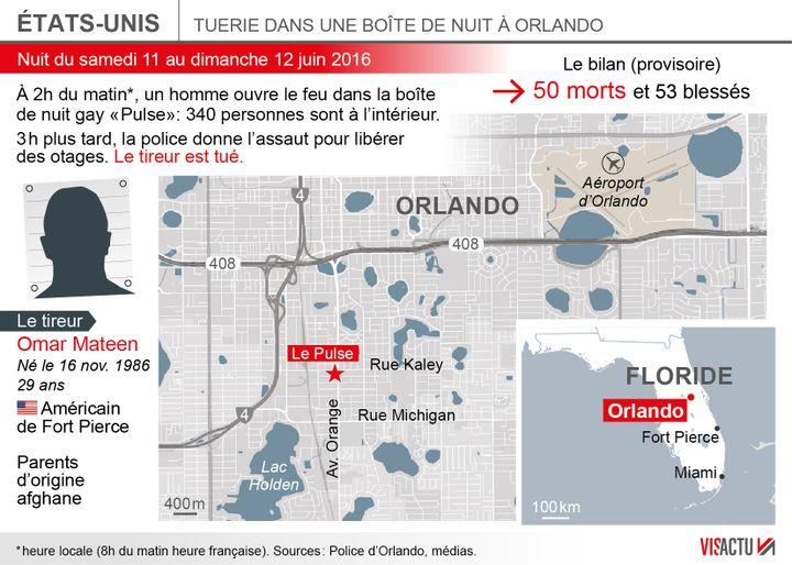 (Ce que l'on sait sur la fusillade d'Orlando © Visactu)