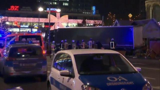 Berlin : un camion percute la foule rassemblée près d'un marché de Noël