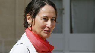 La ministre de l'Ecologie Ségolène Royal à l'Elysée après le Conseil des ministres, le 20 août 2014. (PATRICK KOVARIK / AFP)