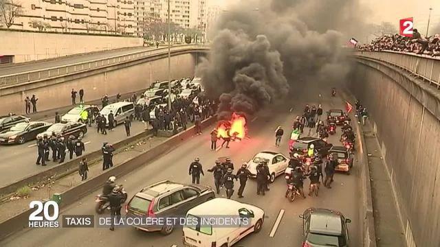 Grève des taxis : une journée de mobilisation très mouvementée