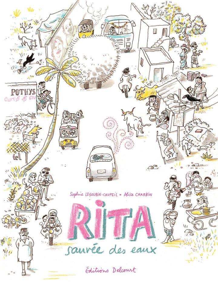 """La couverture de l'album de bande dessinée, """"Rita, sauvée des eaux"""". (DELCOURT)"""