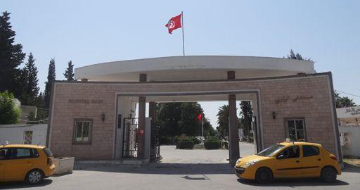 Devant l'hôpital Razi à Tunis le 25 juin 2015 (FTV)
